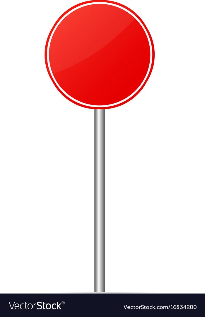 Road sign blank mockup.