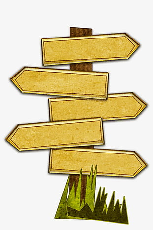 Wooden road signs PNG clipart.