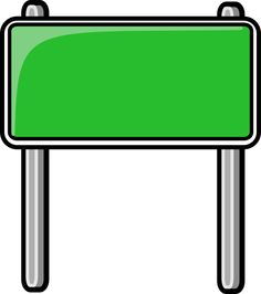 Blank road sign clipart 1 » Clipart Station.