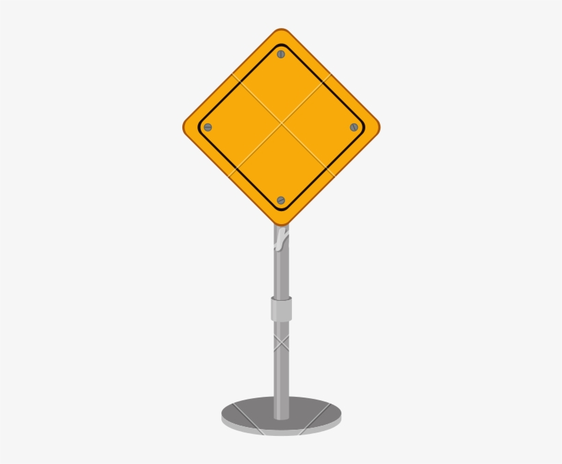 Blank Road Sign Png Vector Library.