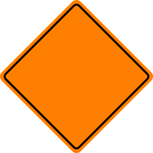 Blank Construction Sign.