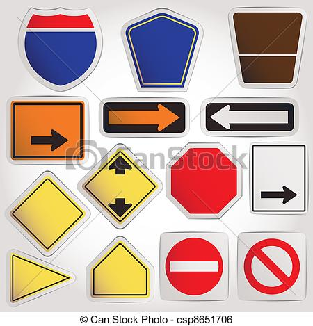 Vector. Blank road signs.