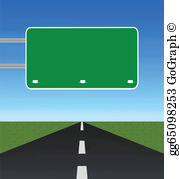 Blank Road Signs Clip Art.