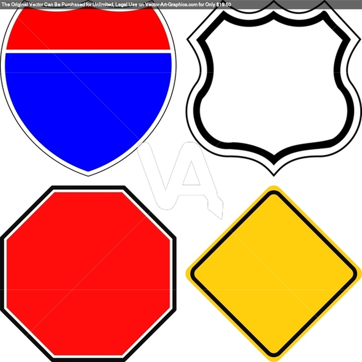 Road Sign Template Clipart.