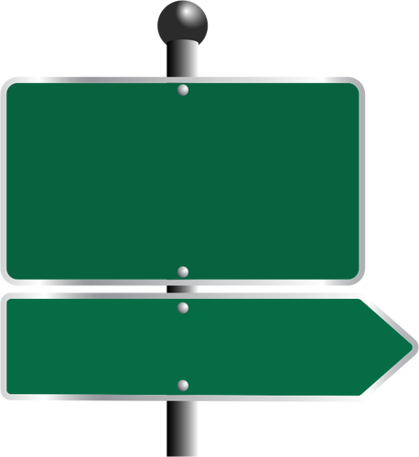 Green road signs.