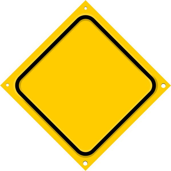 road sign diagonal blank, from road signs page, public.