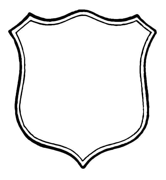 Blank Shield Shapes.