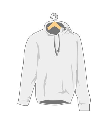 blank white hanger hooded sweatshirt template.