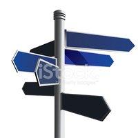 Blank Signpost stock vectors.