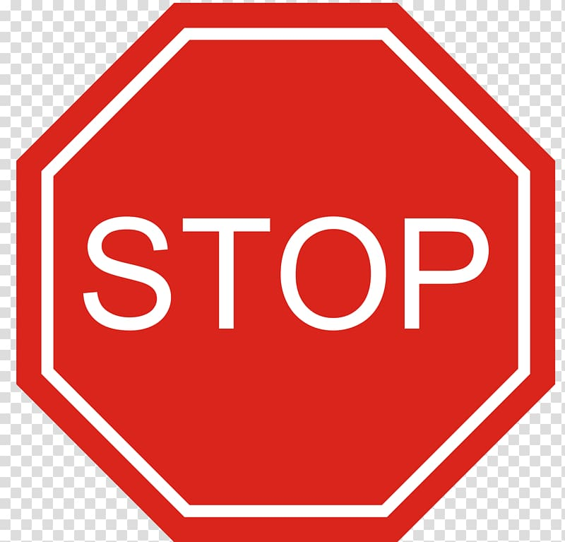 Stop sign Traffic sign , Blank Stop Sign transparent.