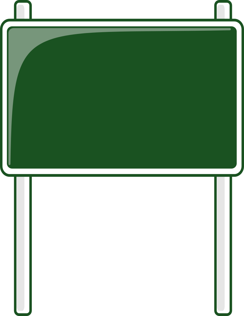 Blank Highway Sign Png.