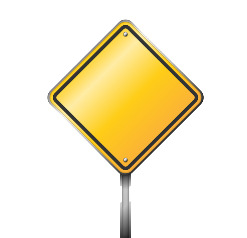 Blank Road Sign Png.