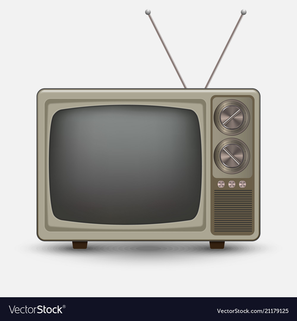 Realistic old vintage tv.
