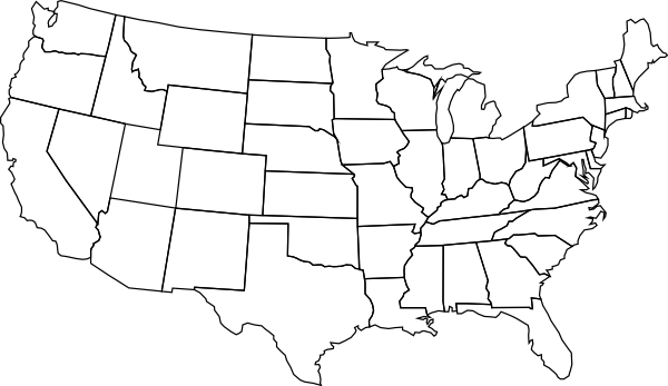 Blank Us Map PNG Clip arts for Web.