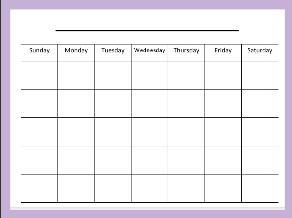 Blank Calendar Clipart : Blank week calendar clipart clipground