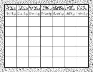 Weekly Calendar.