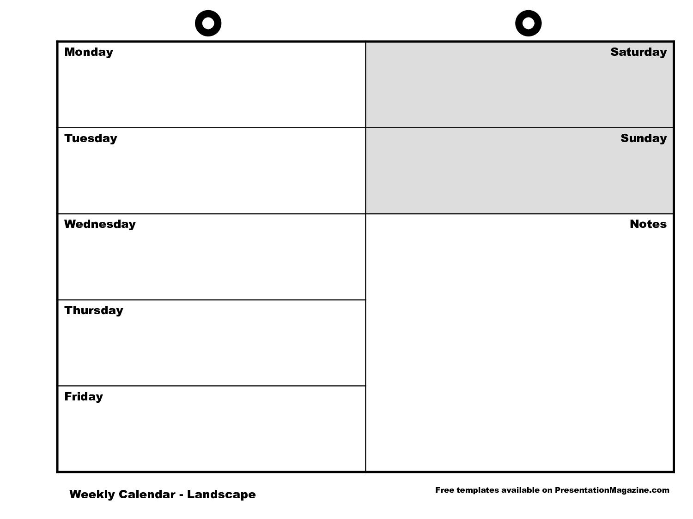 blank week calendar clipart - Clipground
