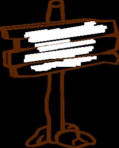 Wood Sign Post Blank Clip Art.