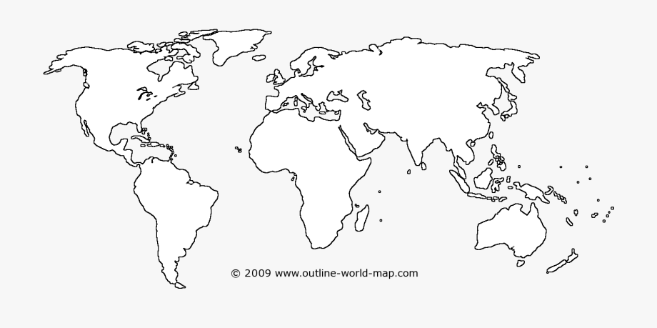 Maps Clipart World Map Outline.