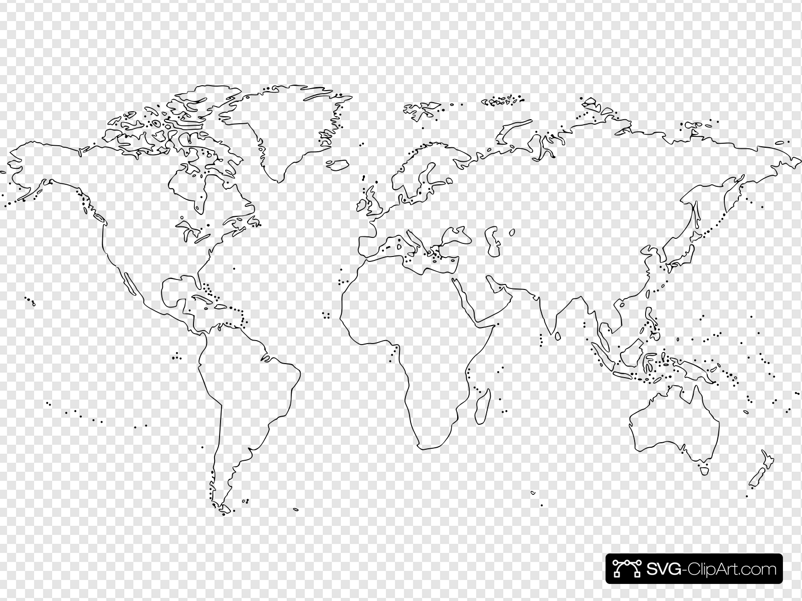 Blank World Map (large) Clip art, Icon and SVG.