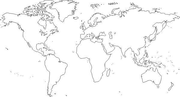 Clipart World Map Outline.