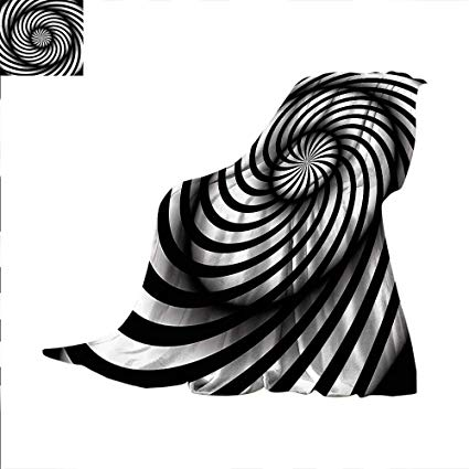 Amazon.com: Spires Throw Blanket Black and White Swirl 70.