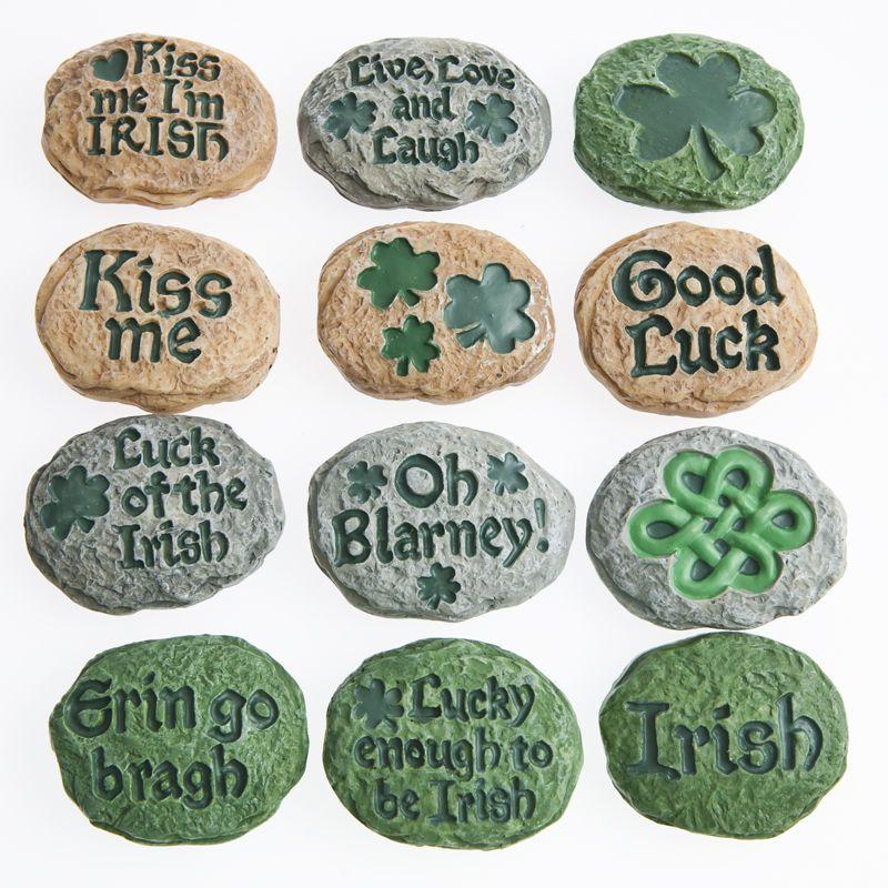 Irish Blarney Stones are perfect St. Pat\'s Day decorations.