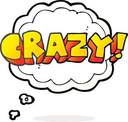 Gedanke Blase Cartoon schreien verrückt Clipart Image.