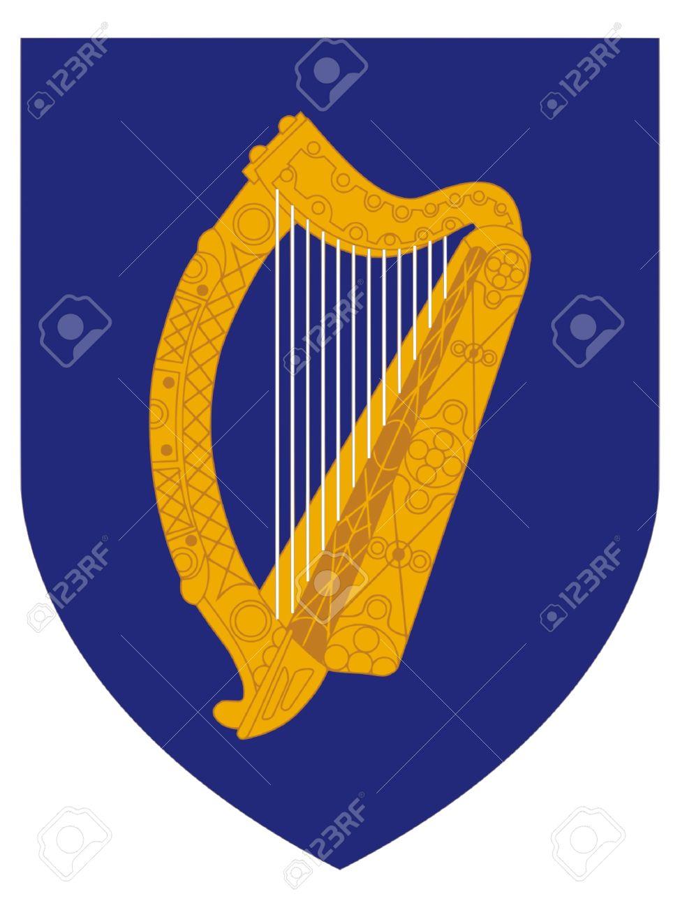 Blason De La République D'Irlande Clip Art Libres De Droits.