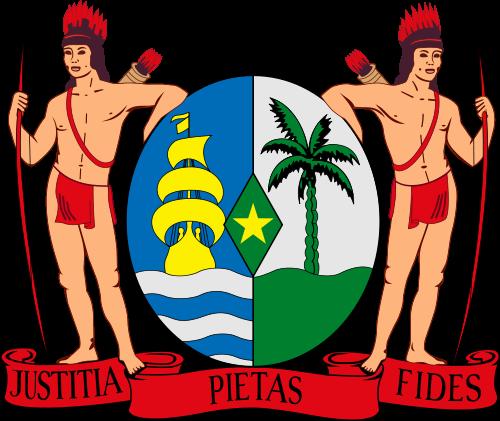 Armoiries du Suriname.