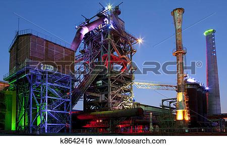 Stock Images of steel industry blast furnace k8642416.
