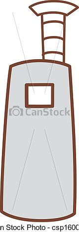 Vector Illustration of A blast furnace csp16007723.