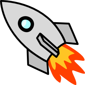 Rocket ship blast off clipart.