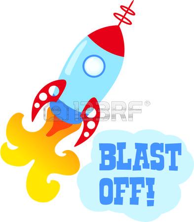 Blast off clipart.