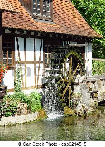 Stock Bilder von Mühle, blautopf.