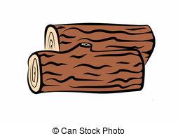 Stock Illustration von gezeichnet, Holz, holzstämme, Hand.