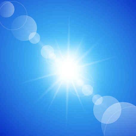 Abstrakte sonnigen blauen Himmel Hintergrund, Vektorgrafik.