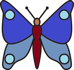 Schmetterling blau clipart.