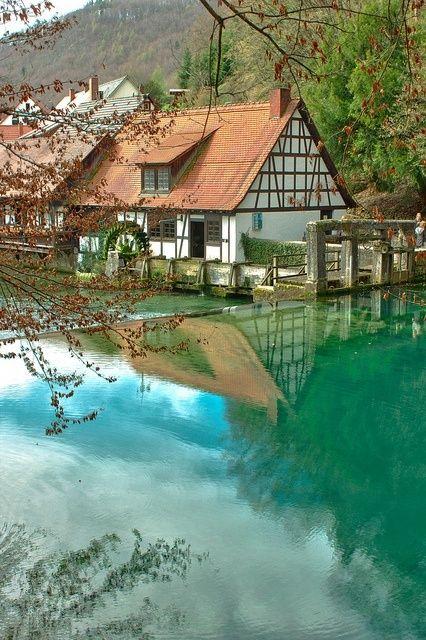 Blautopf Natural Spring ~ Blaubeuren, Germany.