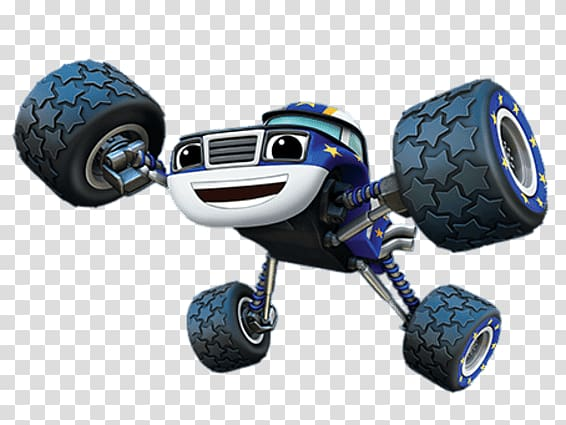 Blue and white monster truck illustration, Blaze and the.