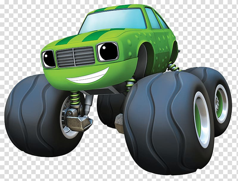 Green and black monster truck art, Blaze and the Monster Machines.