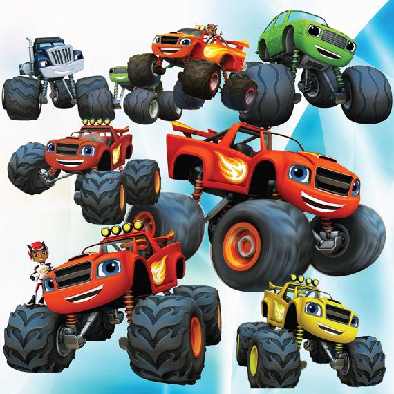 BUY2GET1FORFREE! 25 Blaze And The Monster Machines Clipart Cartoon.
