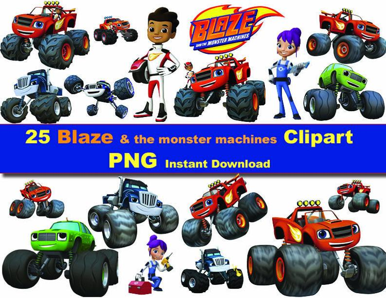 25X Blaze and the monster machines clipart png.
