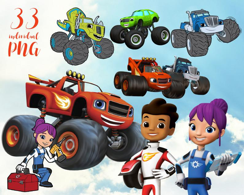 Blaze and the monster machines Clipart Disney Clipart ,Princess  Clipart,cartoon clipart.