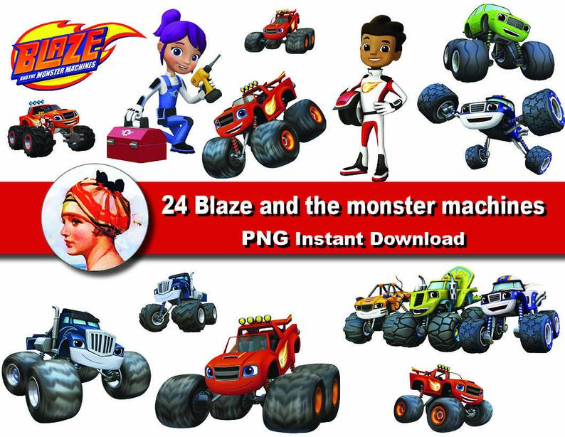 24X Blaze and the monster machines clipart png.