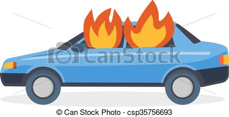 Blaze In Car Clipart.