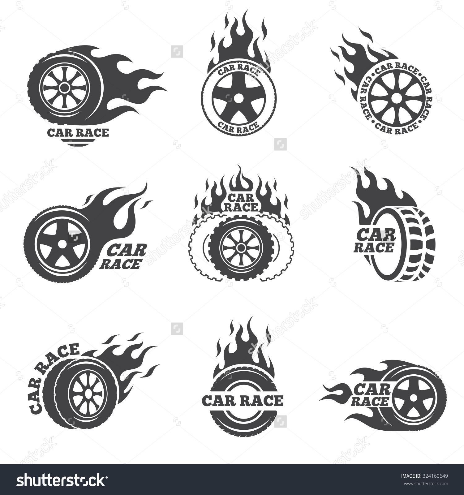 blaze in car clipart