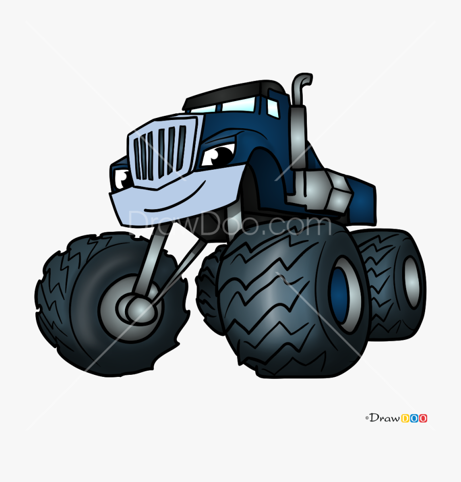 How To Draw Crusher Blaze And Monster Machines Png.