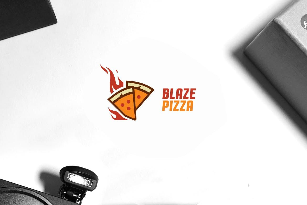 Blaze Pizza Logo Template AI, EPS.