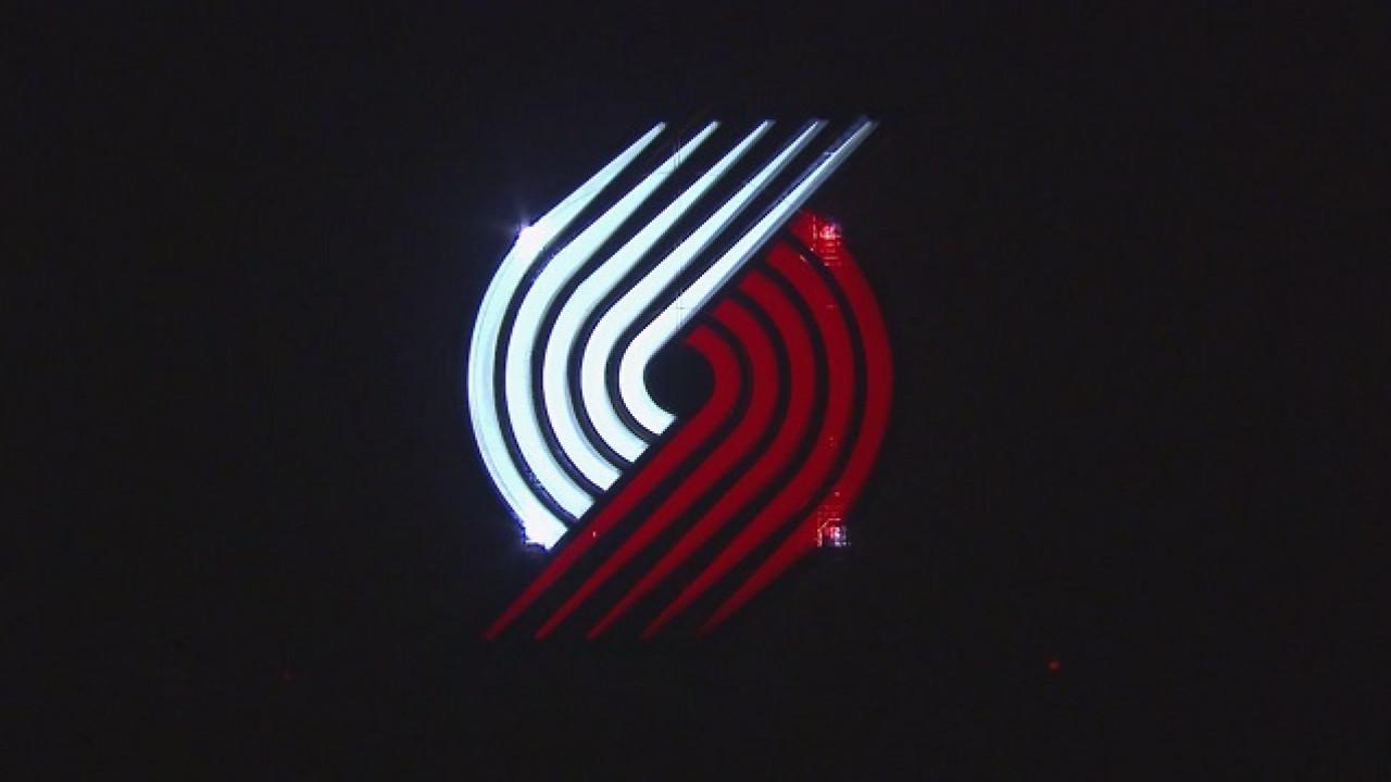 Where We Live: The Portland Trail Blazers logo.
